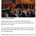 Singing Elgar in Hackney