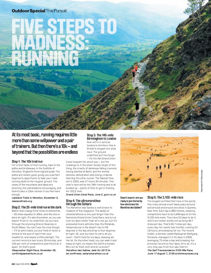 Summer outdoor section in Sport magazine #2
