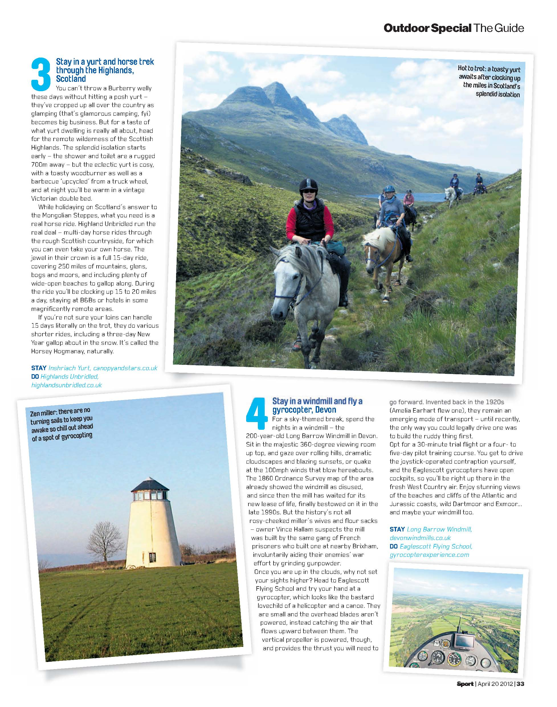 Summer outdoor section in Sport magazine #1