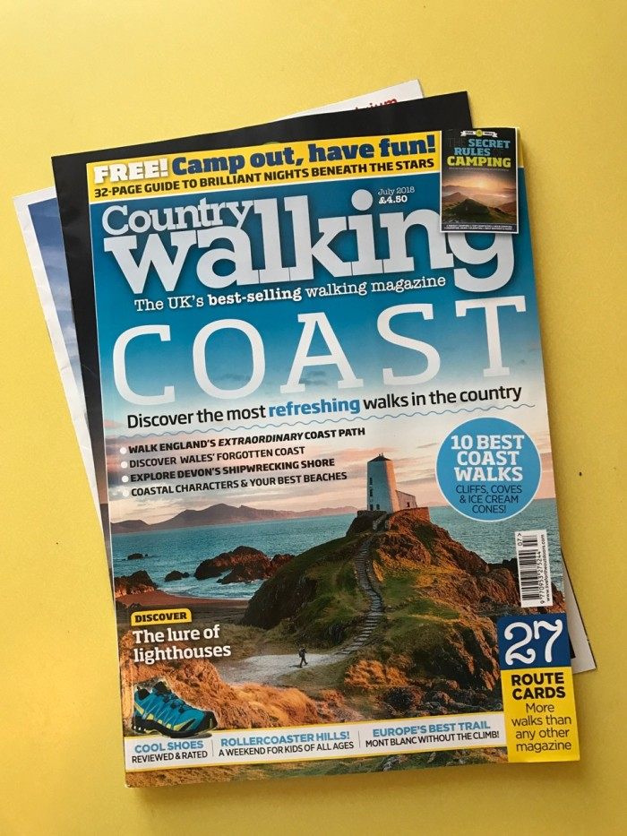 My huge 10-page double article in Country Walking magazine